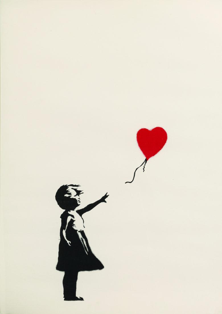 Girl with balloon, Banksy