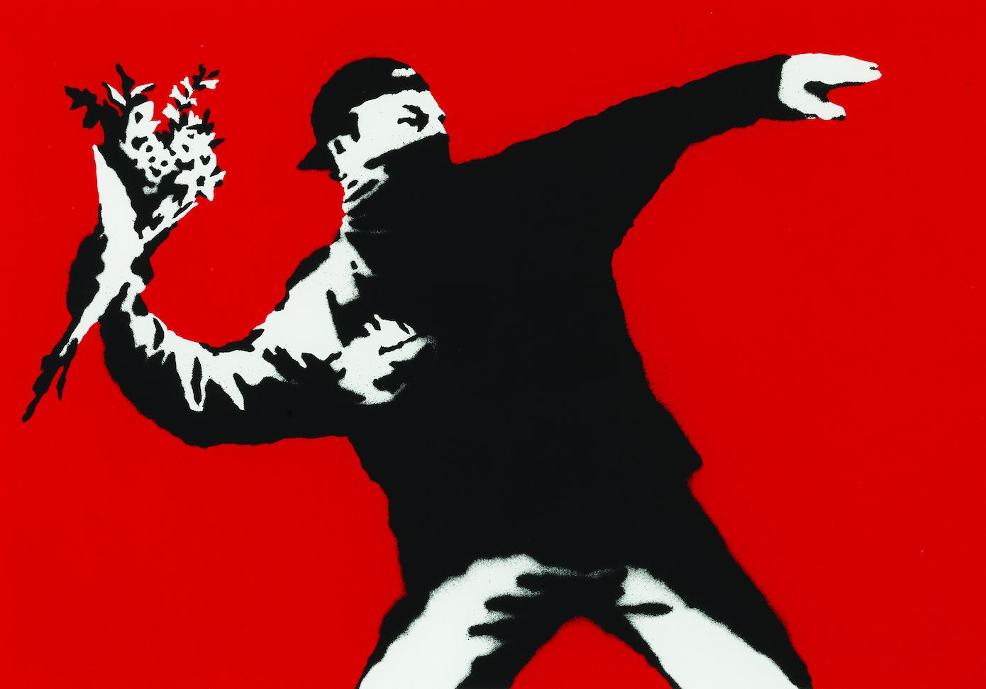 Le lanceur de Fleurs, Banksy,