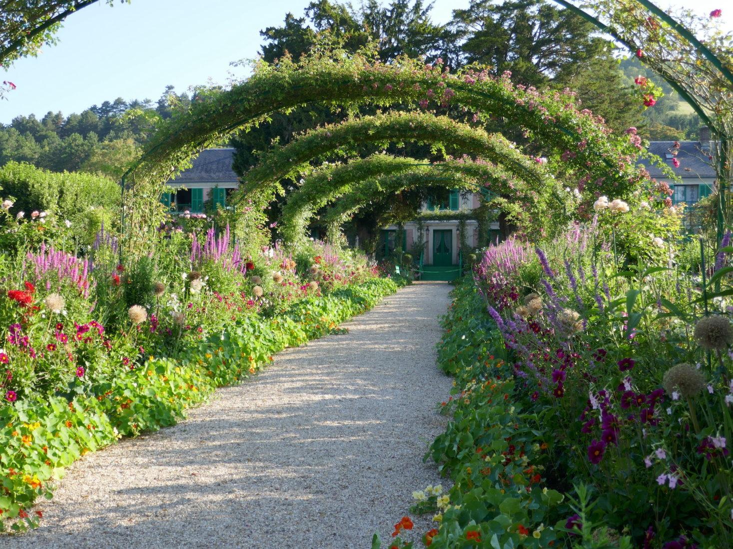 Arcades au jardin  de Claude Monet à Giverny