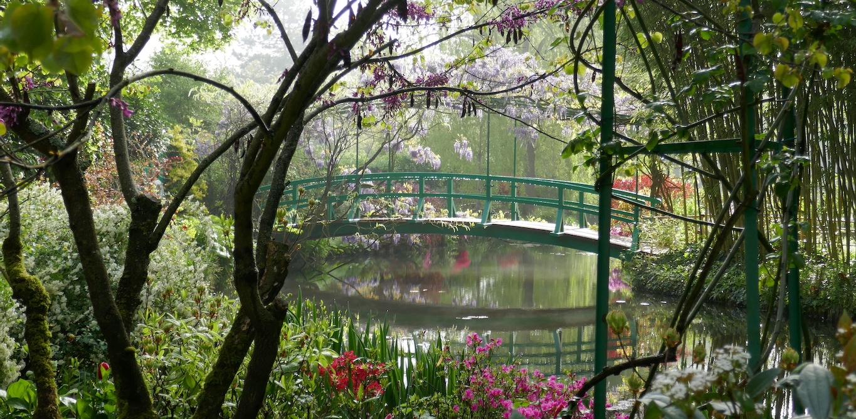 pont japonais - jardin  de Claude Monet à Giverny