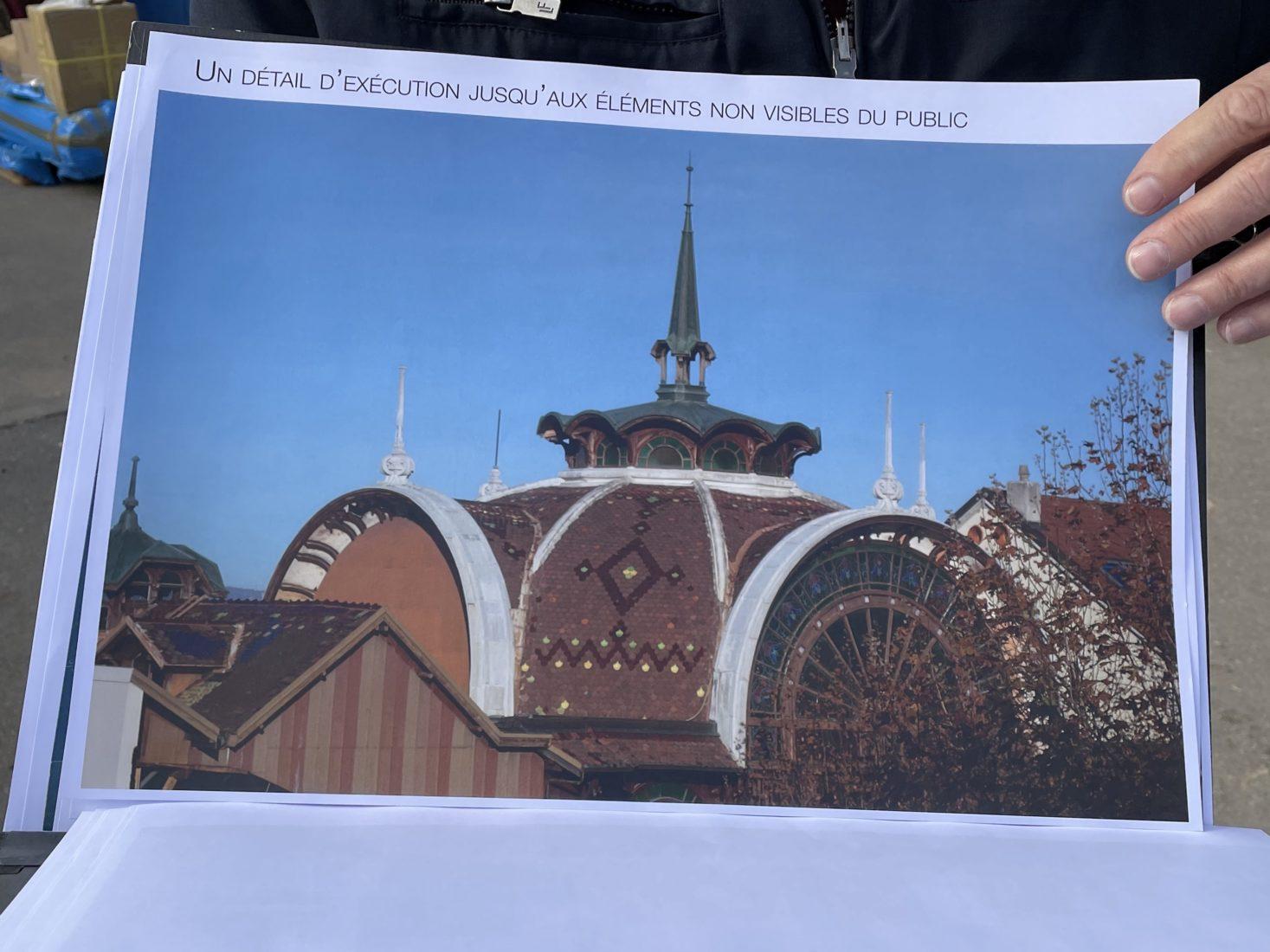 Evian photo de la coupole de la Buvette Cachat