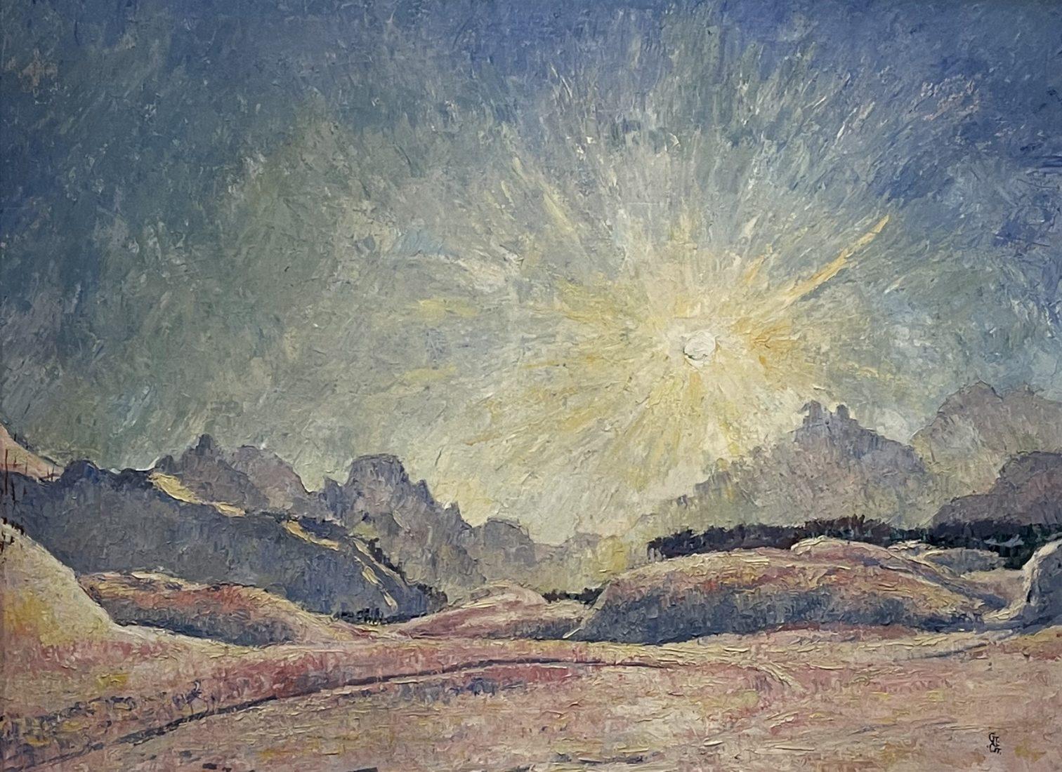 Giovanni Giacometti : Paysage de neige (soleil),