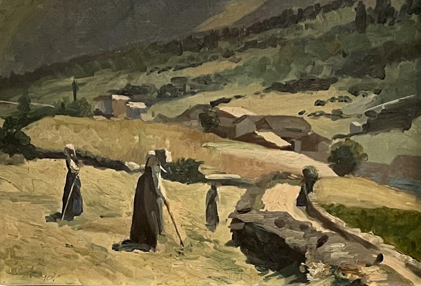 Cuno Amiet : Fenaison dans le val Bregaglia,