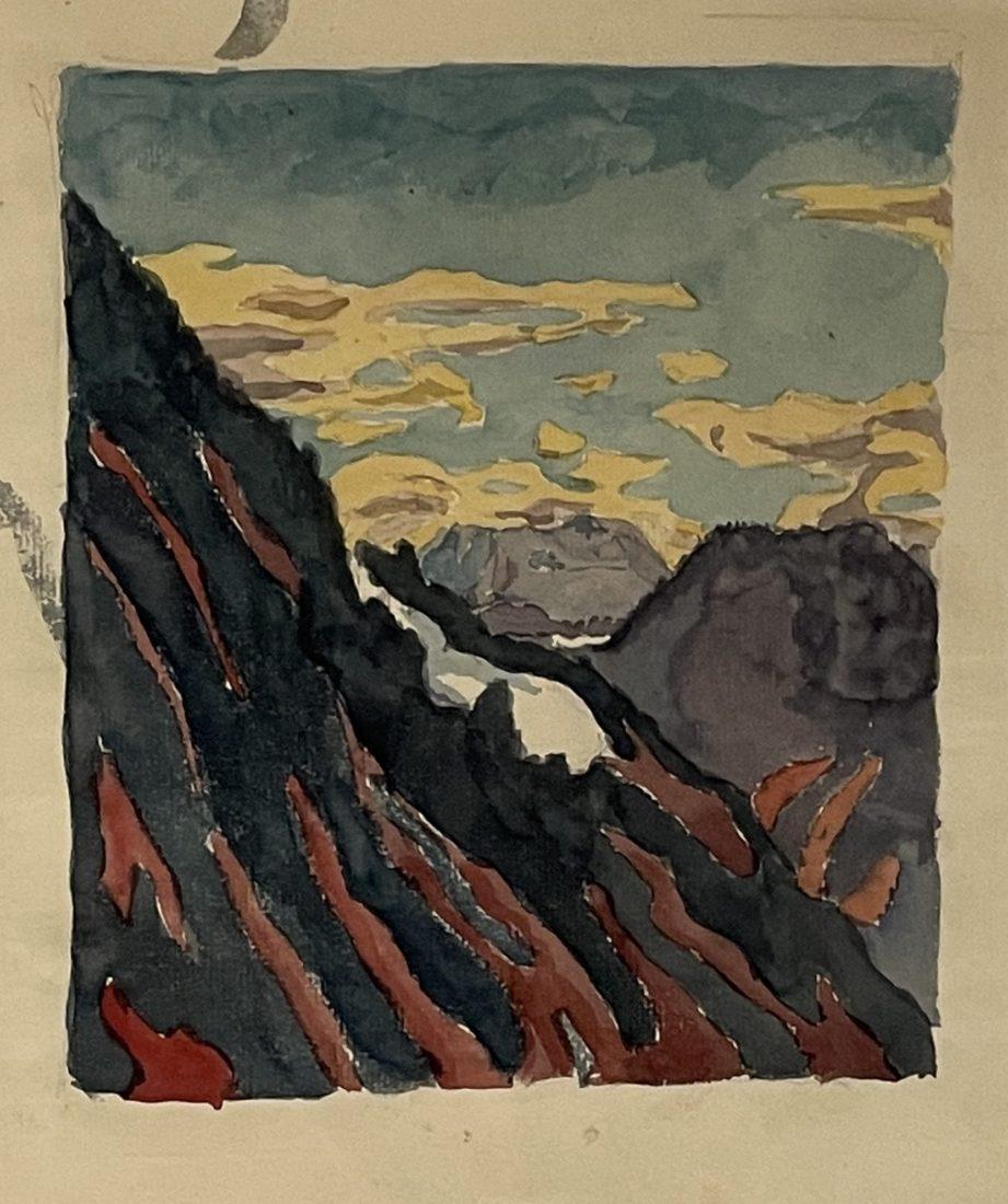 Alberto Giacometti : Montagnes,