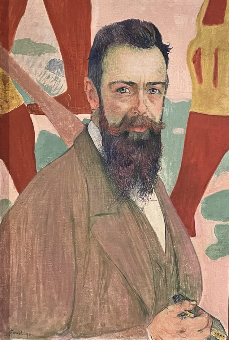Cuno Amiet : Portrait de Ferdinand Hodler