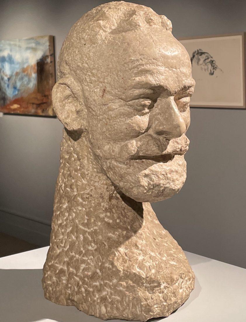 Cuno Amiet : Buste de Ferdinand Hodler,