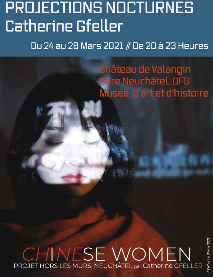 Affiche CHiNEse Women catherine Gfeller neuchâtel