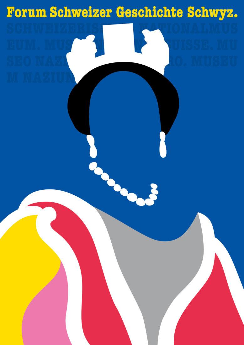 Affiche dr l'Exposition Les Royals arrivent - Schwyz