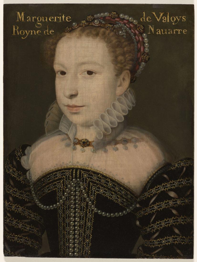 François Clouet, ou de Jean Decourt, Portrait de Marguerite de Valois, Reine de Navarre puis de France,