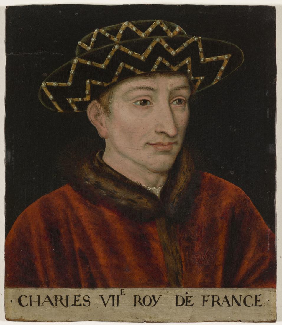 Ecole française d'après Jean Fouquet, Portrait de Charles VII, roi de France,