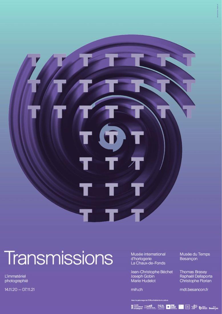 Affiche Exposition Transmissions la Chaux-de-Fonds