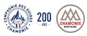Logo anniversaire 200 ans de la Compagnie des guides de Chamonix