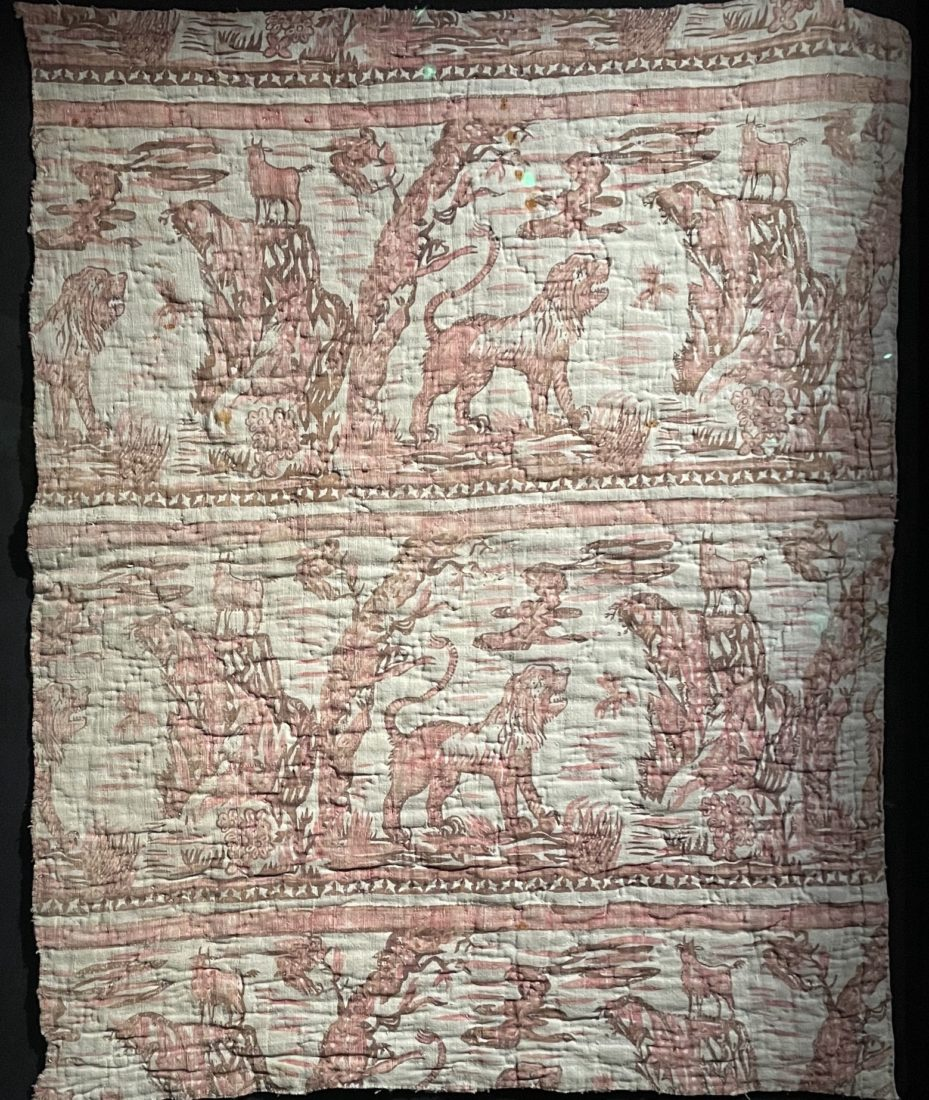 Château de Prangins Indiennes Le lion et la chèvre, indienne de traite