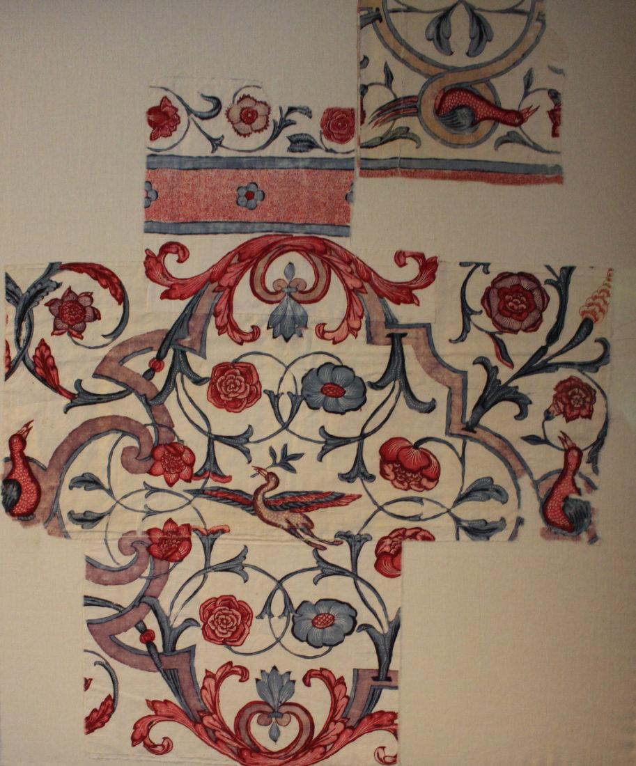 Château de Prangins Indiennes motifs fleurs oiseau