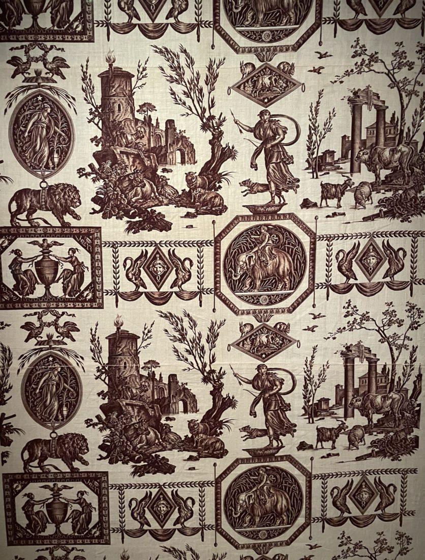 Château de Prangins - Indiennes. tissu à motifs éléphants