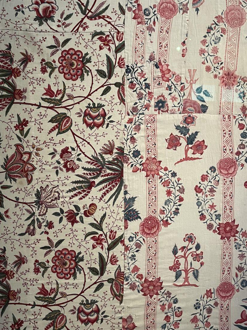 Château de Prangins - Indiennes. Un tissu à fleurs