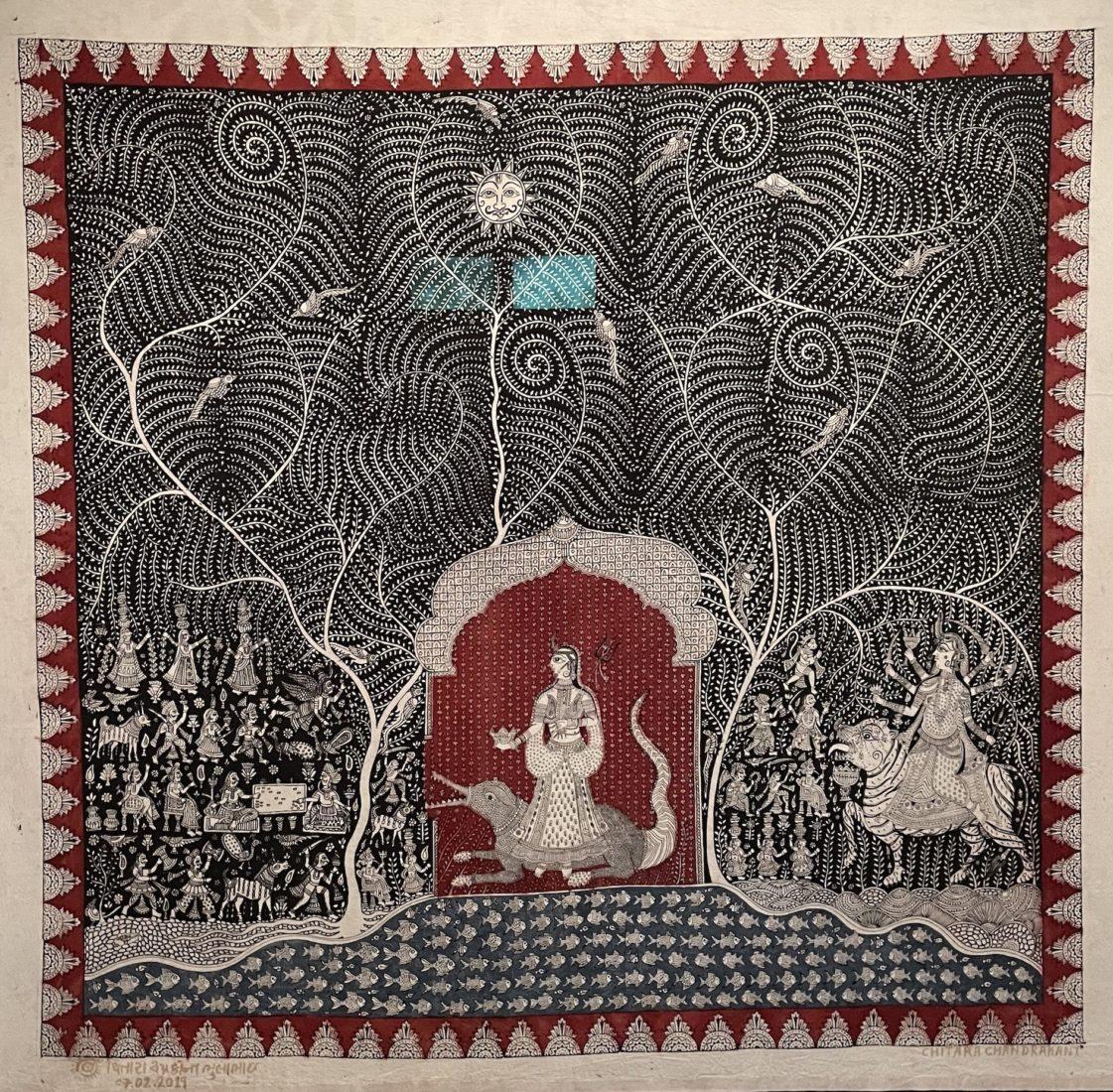 Château de Prangins Indiennes Mata ni pachedi, tenture de la déesse mère