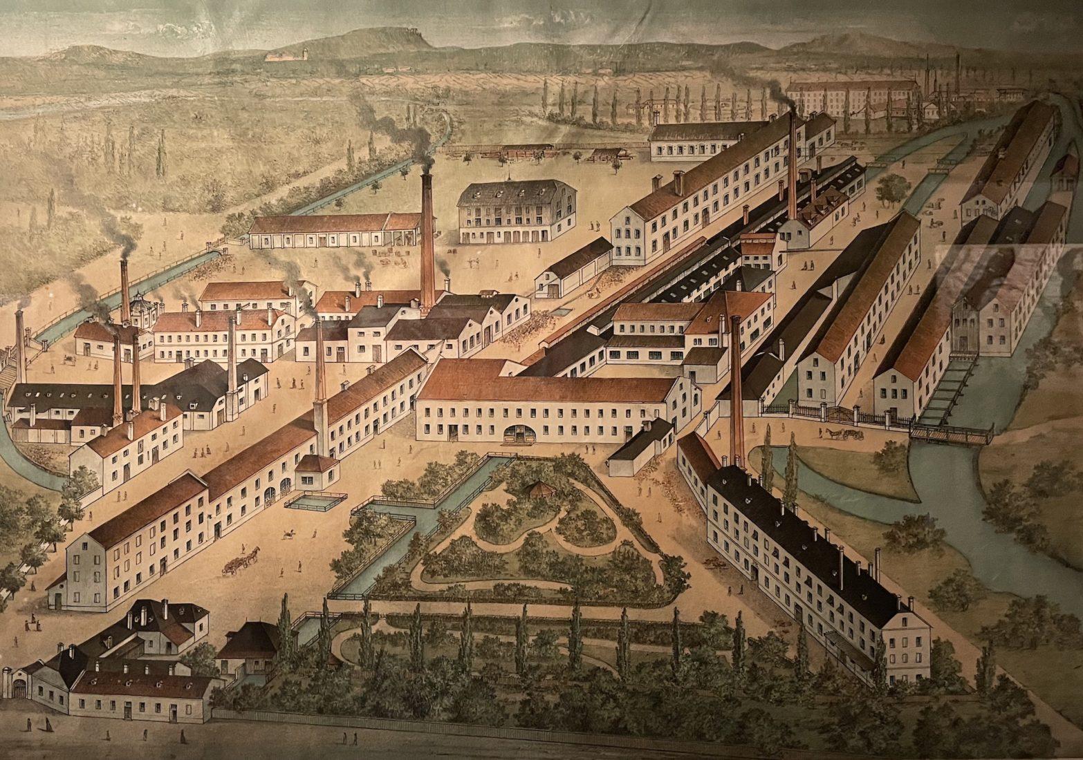Château de Prangins exposition Indiennes. Fabrique Neunkirchen
