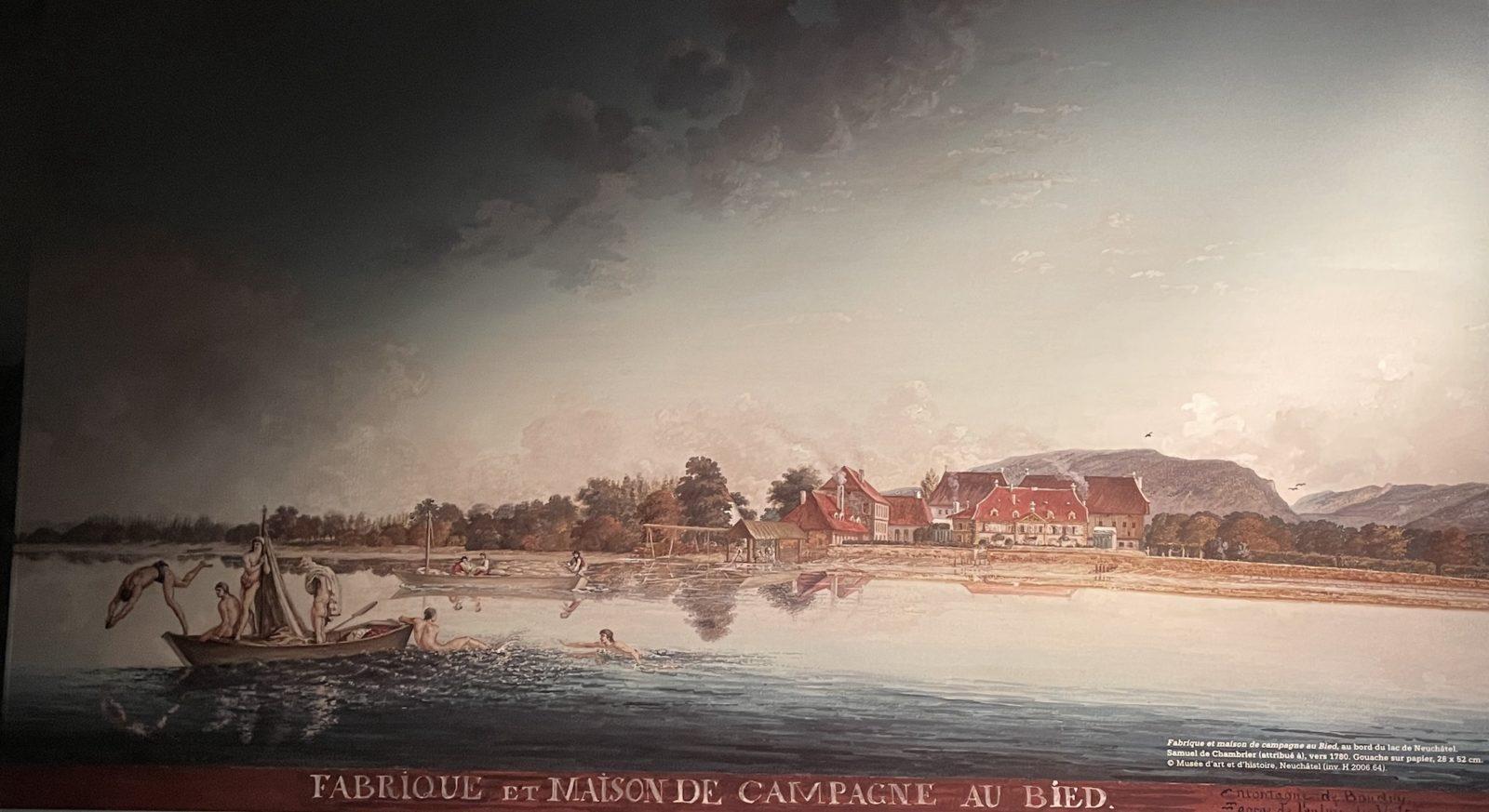 Château de Prangins exposition Indiennes Fabrique au Bied Neuchâtel