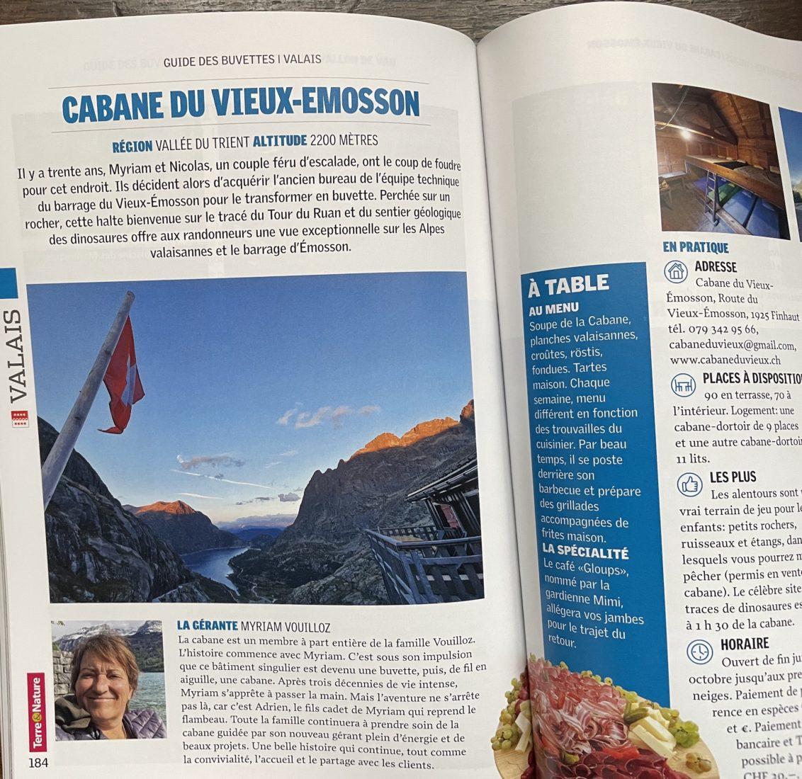 Buvettes et auberges Suisse romande Vieux Emosson