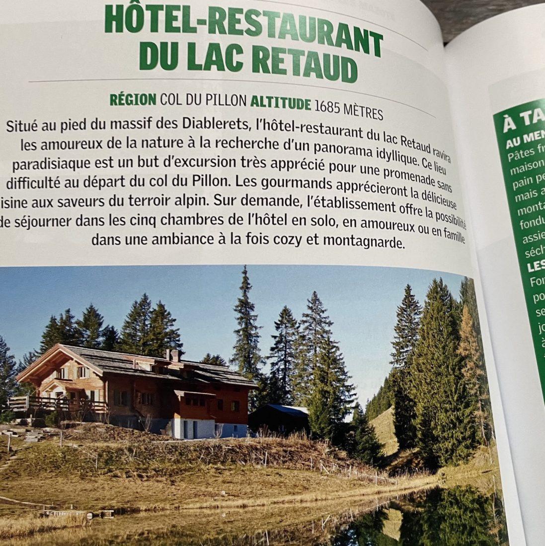 Buvettes et auberges Suisse romande Lac Retaud