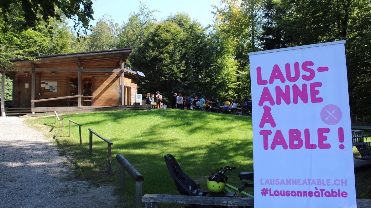 Lausanne à Table pleine nature