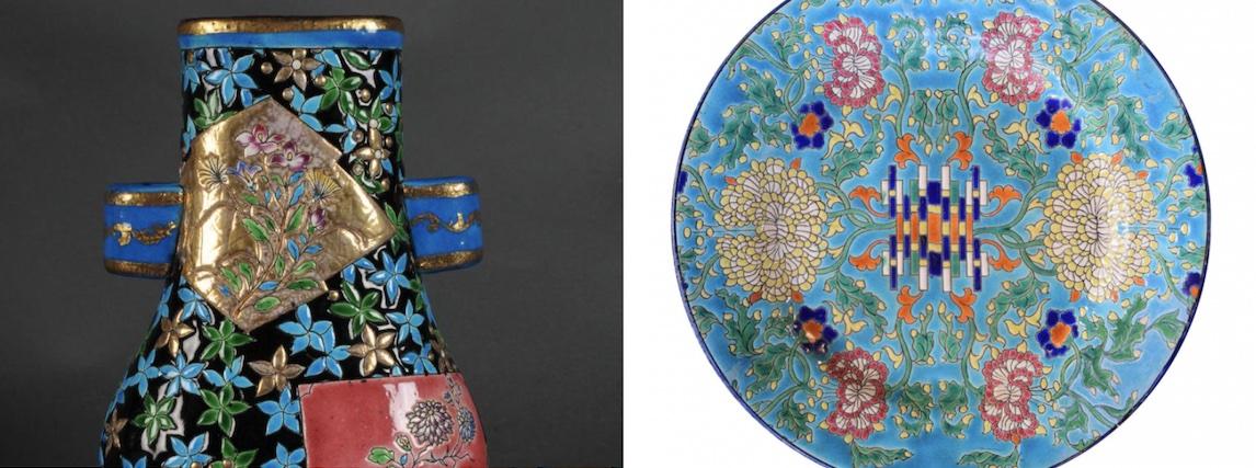 Longwy - détail vase- assiette