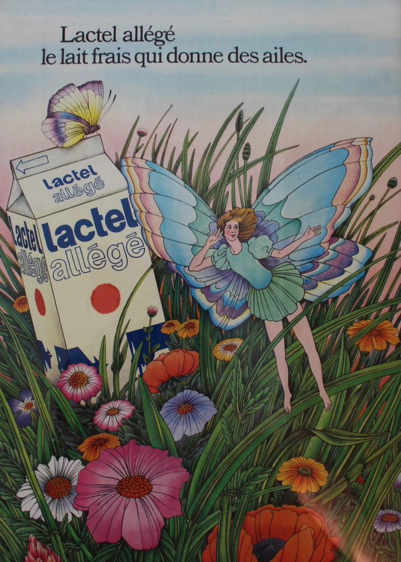 Alain LE Foll Affiche pour Lactel