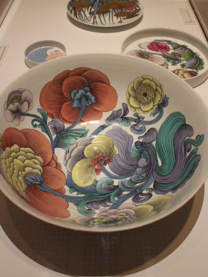 Alain Le Foll. Plat avec motif floral, Rosenthal