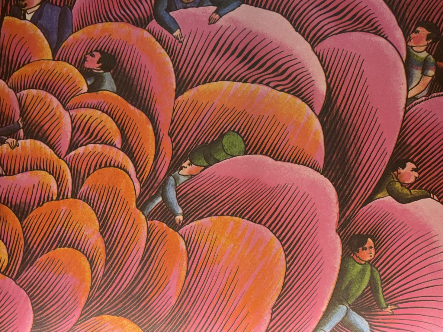 Alain Le Foll détail d'un dessin du livre C'est le Bouquet