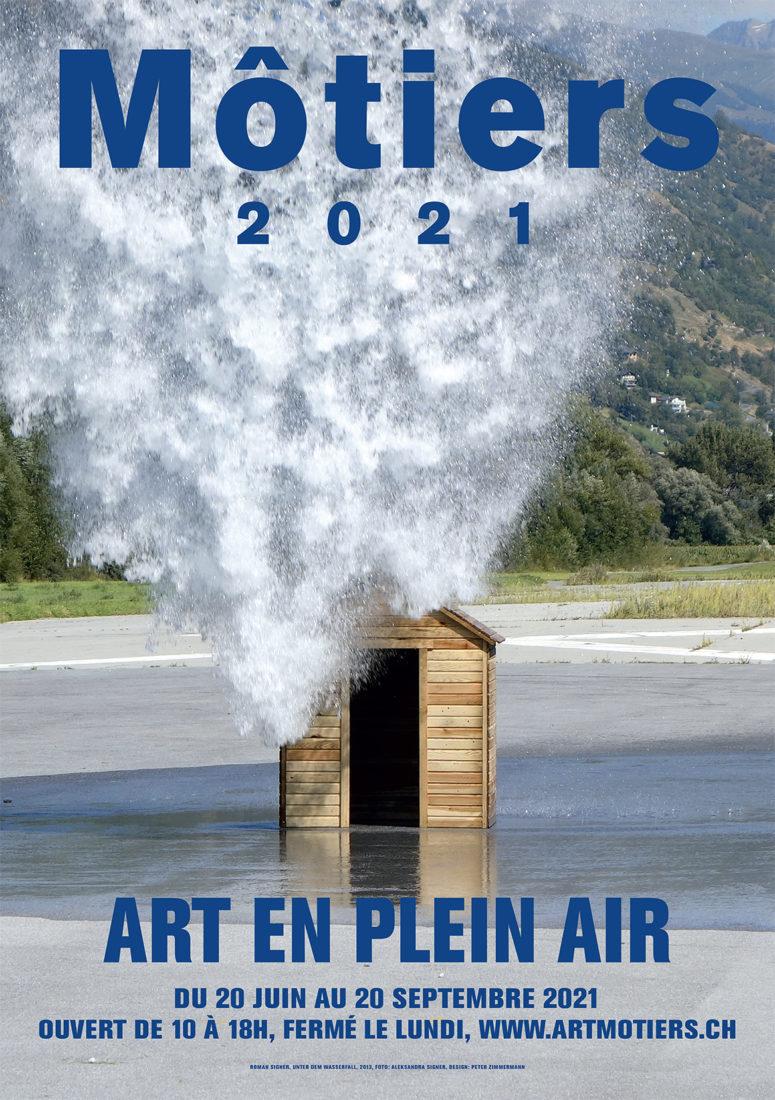 Affiche Môtiers 2021 ~ Art en plein air Catherine Gfeller