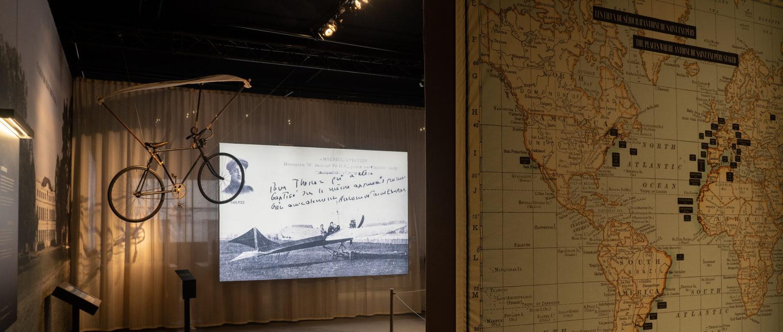 Vue de l'expo Saint Ex Lyon - carte de ses voyages