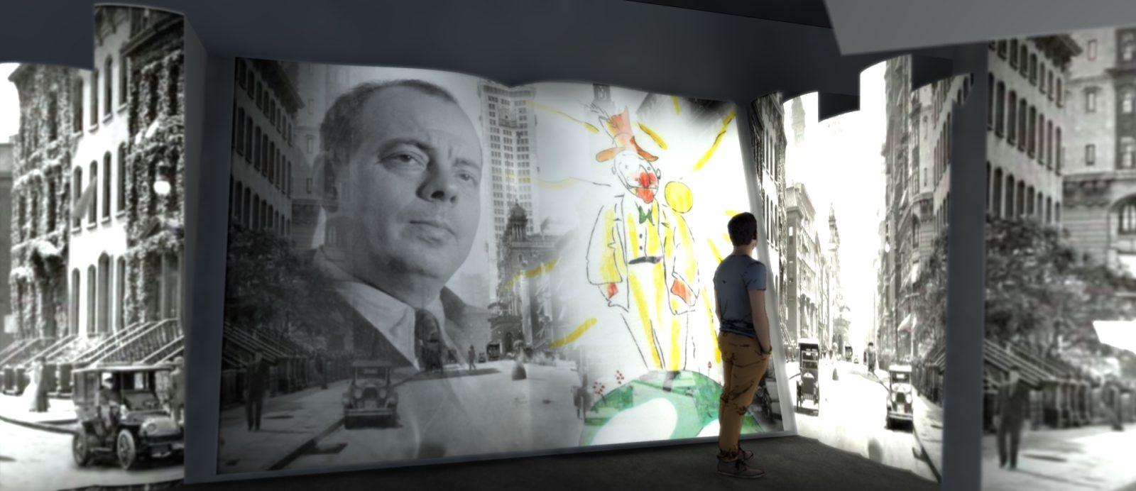Vue de l'exposition Saint Exupéry à Lyon - la Sucrière