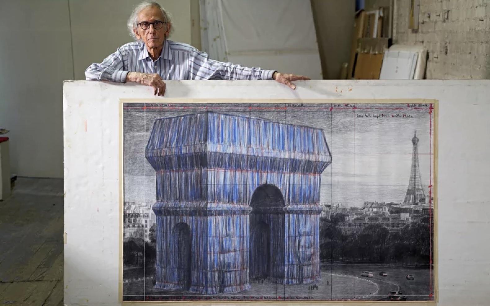 Christo projet l'Arc de Triomphe empaqueté