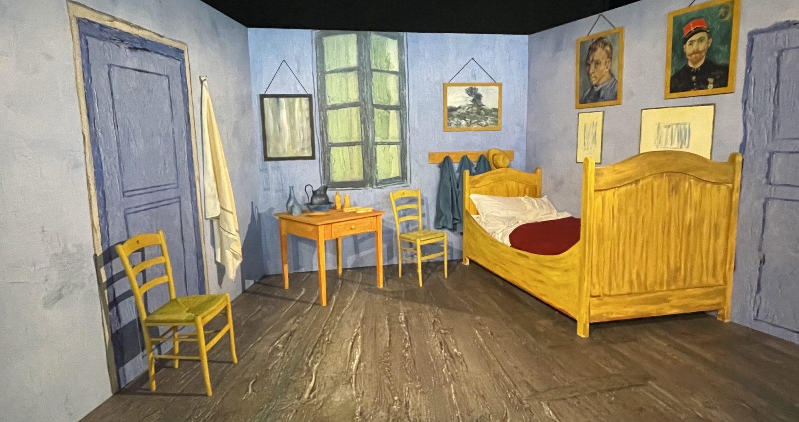 Van Gogh Alive reconstitution chambre à coucher