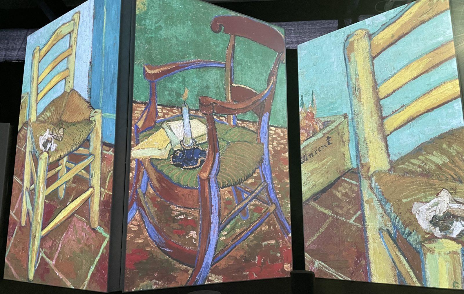 Van Gogh Alive vue Les chaises