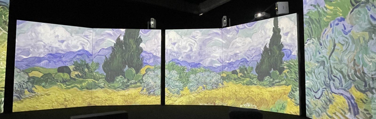 Van Gogh Alive champ de blé au cyprès