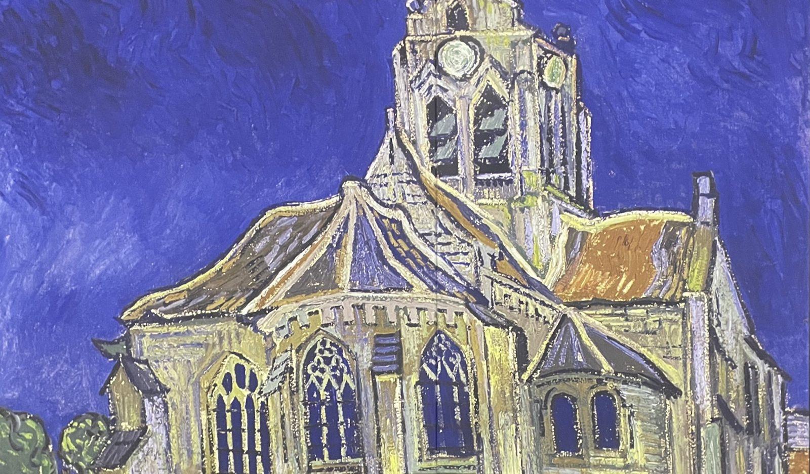 Van Gogh Alive L'église d'Auvers