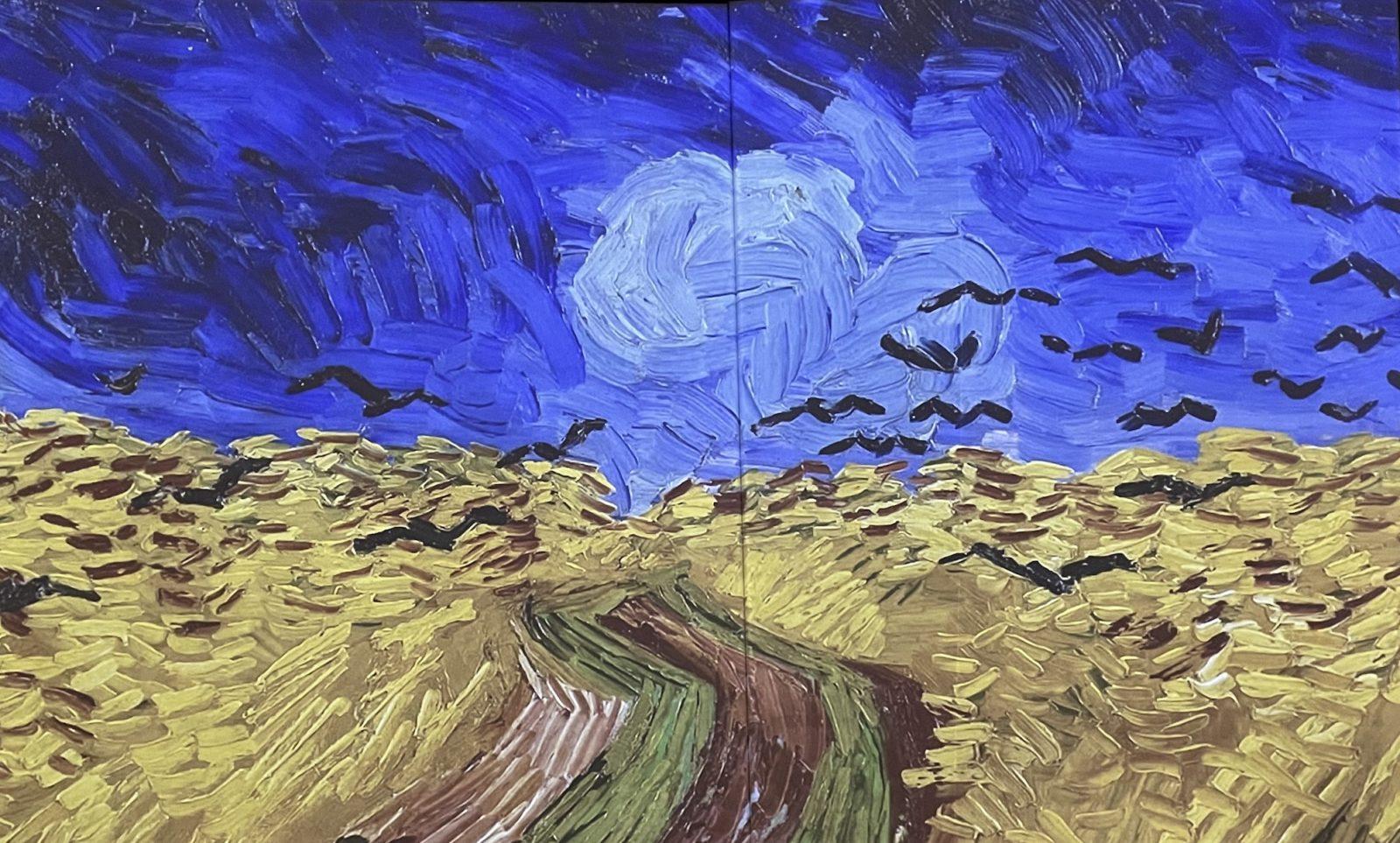 Van Gogh Alive champ de blé aux corbeaux