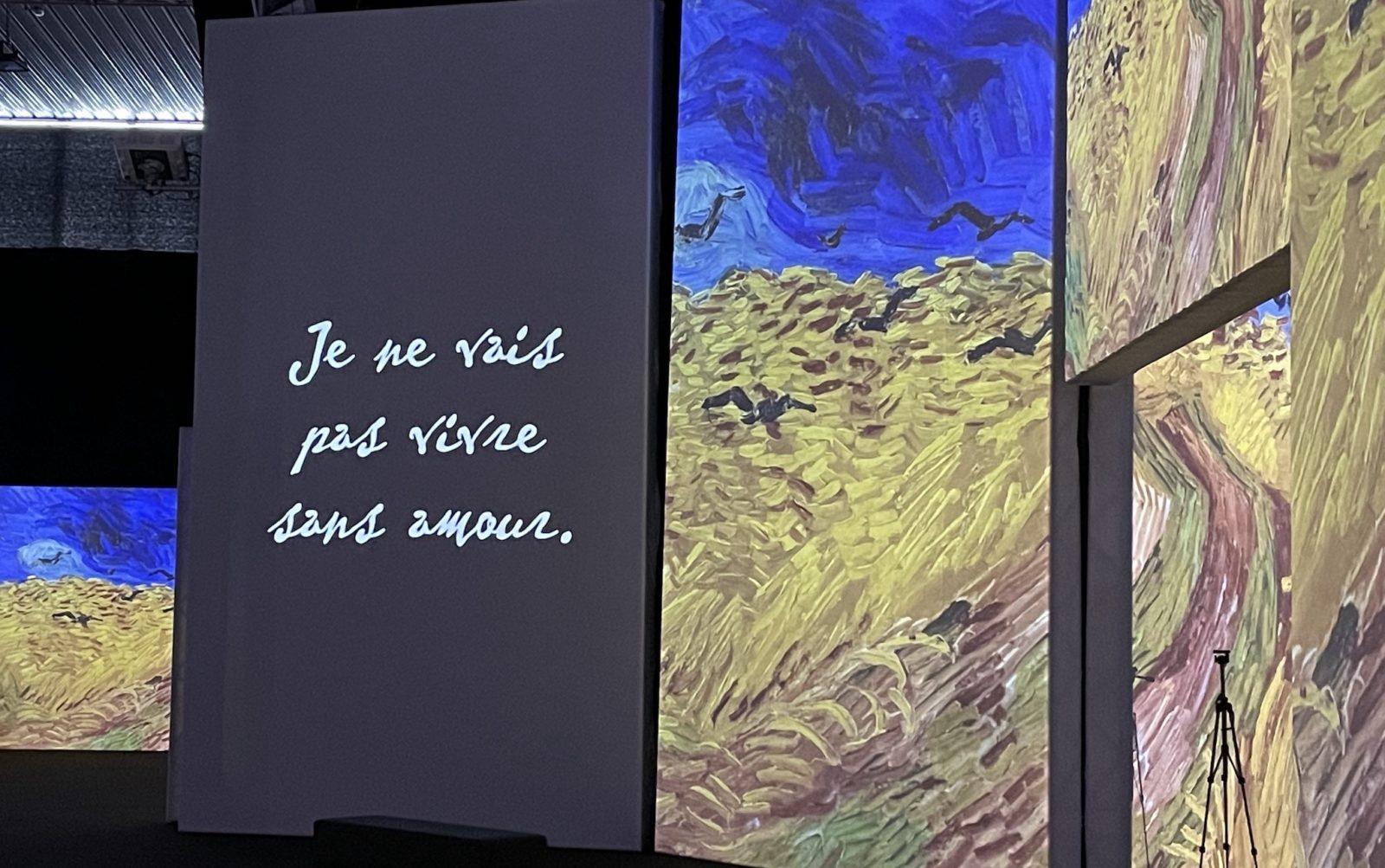 Van Gogh Alive vue champ de blé