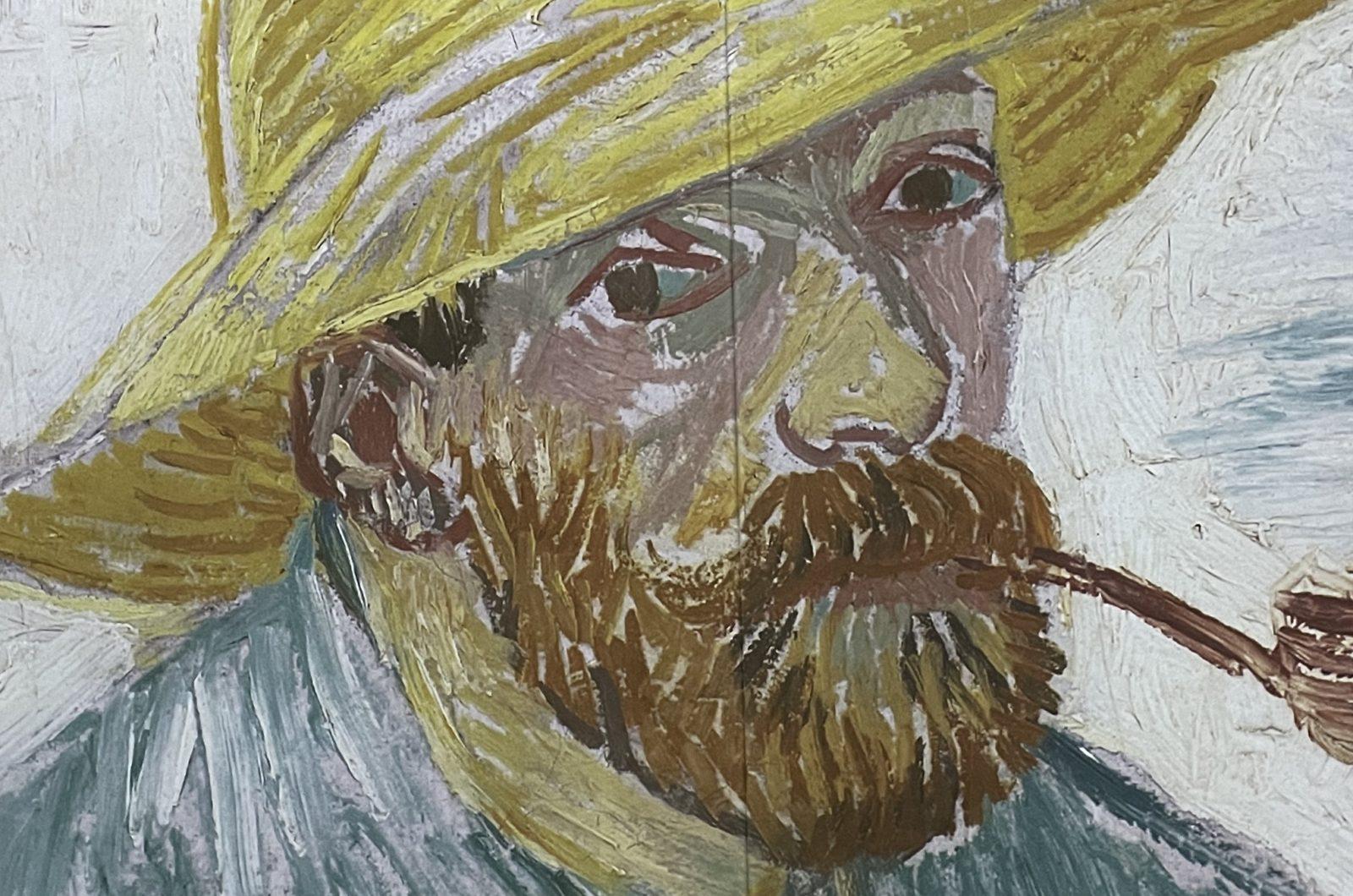 Van Gogh  Alive autoportrait avec pipe