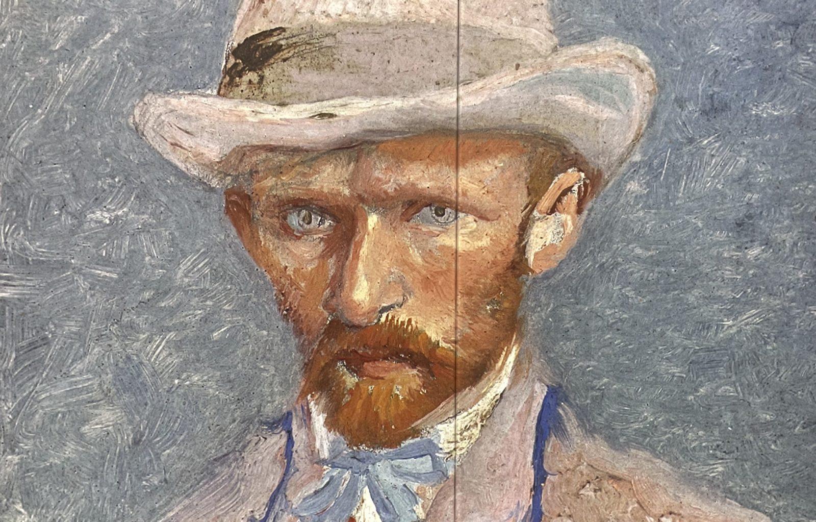 Van Gogh  Alive autoportrait avec chapeau de feutre gris