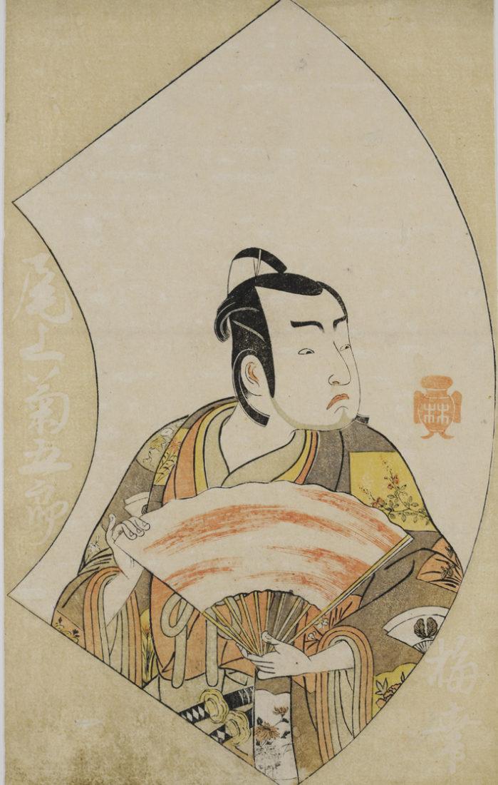 Katsukawa Shunshō Portraits d'acteurs sur éventail