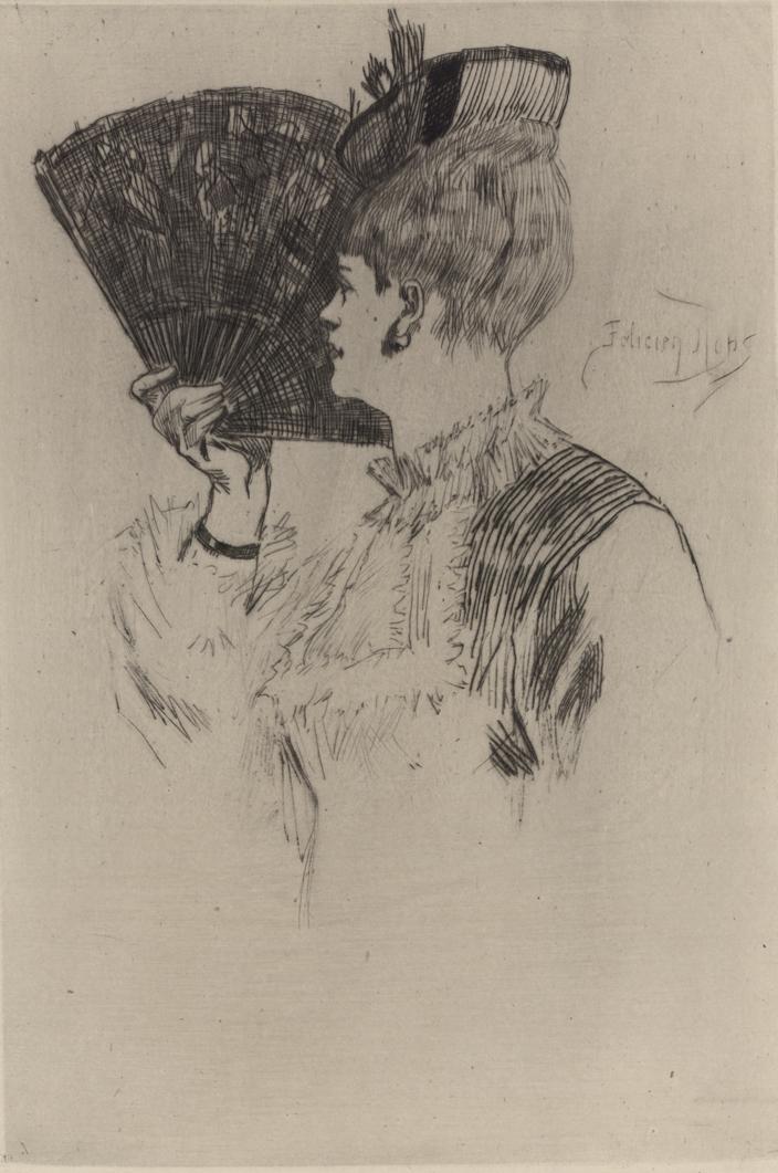 Félicien Rops, Parisine, 1875