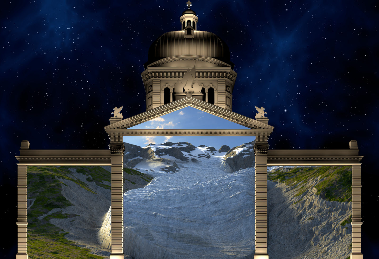 Bundesplatz «Planet Hope – Comeback» 2021 changement climatique